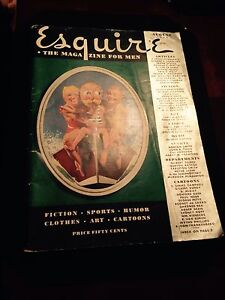 August 1936 ESQUIRE Men's Magazine