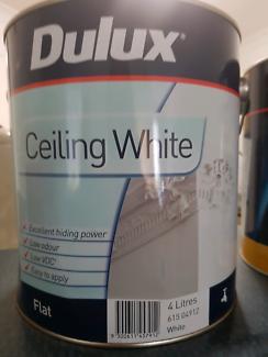 Ceiling Paint. 4lt flat white. Retails at $49.90