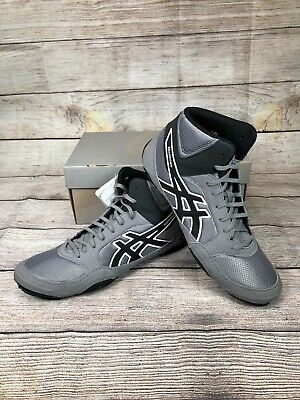 37a6f6bd2886 New ASICS Mens Snapdown 2 Wrestling Shoes 9 M US Aluminum Black White