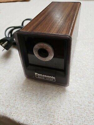 Vintage Panasonic Auto Stop Electric Pencil Sharpener Model Kp-77 Tested