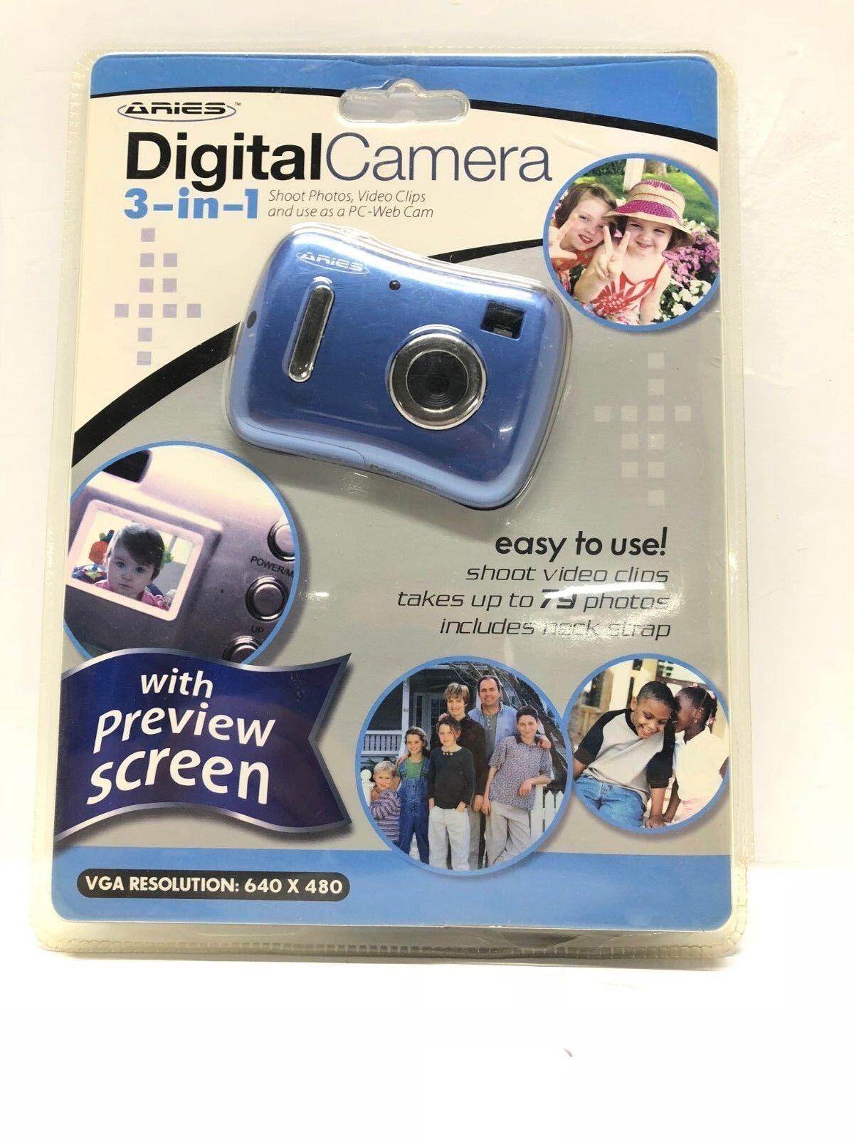 aries digital camera blue