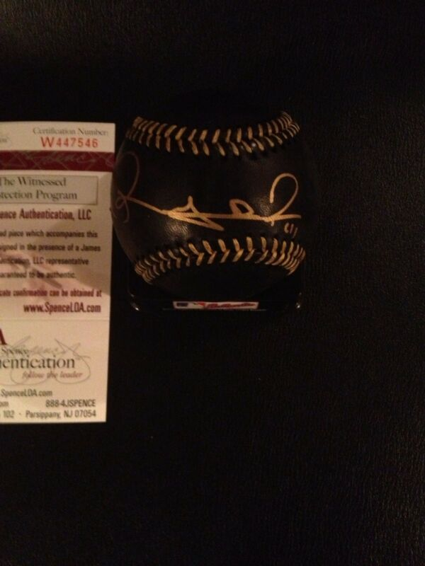 Rubby De La Rosa Signed Autographed Rawlings OML Black baseball! Red Sox! JSA
