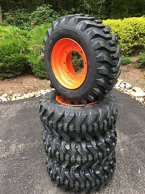 4 New 12-16.5 Skid Steer Tireswheelsrims For Bobcat A300a770s750s770s740