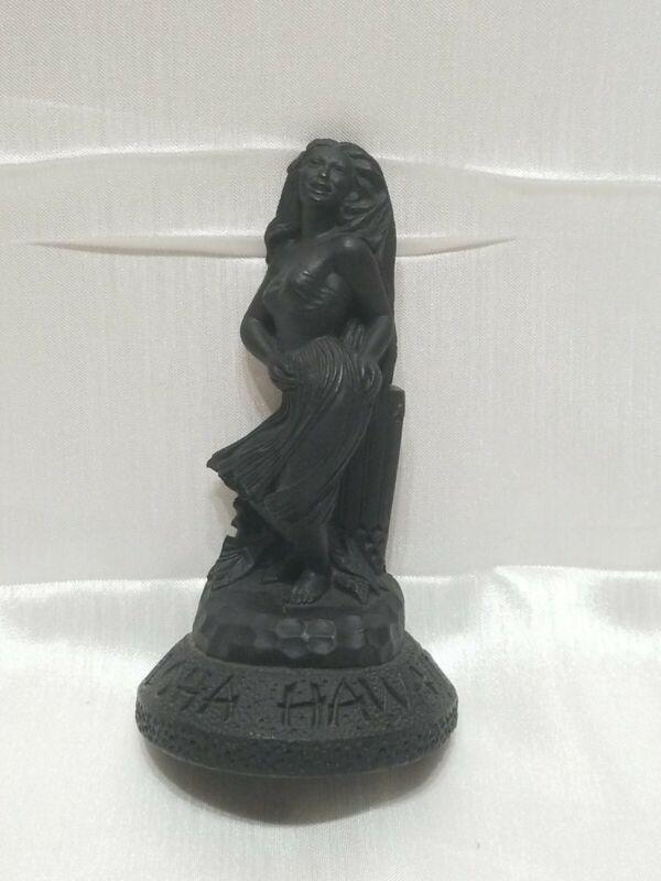 Vintage Made In Hawaii with Lava by Coco Joe (No. 262) Hawaiian Girl figurine!