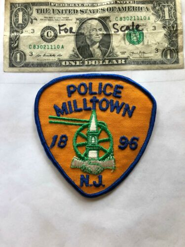Milltown New Jersey Police Patch un-sewn in Great Shape