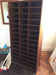 Antique Pigeonhole Bookcase Mosman Mosman Area Preview