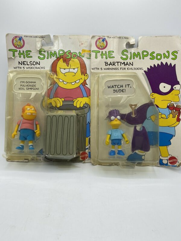 Mattel The Simpson 1990 Nelson & Bartman Action Figure