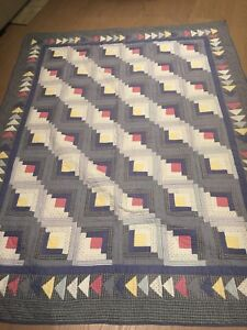 Two twin cottage quilts made by Patch Magic