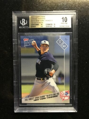 2017 Topps Now Yankees Spring No-hitter Tanaka 319 Sold $1000- This Bgs 10 $$$$$