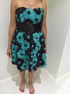 Black/Light Green Flower-Styled Dress Kellyville The Hills District Preview
