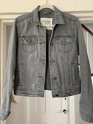 Abercrombie & Fitch Womens Jean Jacket Size M NWOT Gray Wash