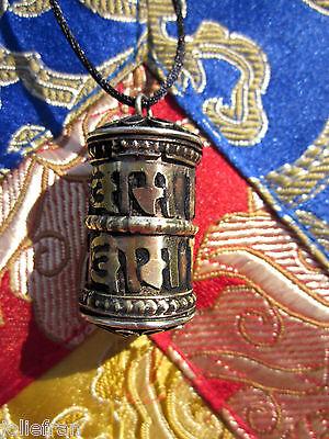 COPPER BRASS UNISEX LARGER DOUBLE OM TIBETAN BUDDHIST PRAYER WHEEL PENDANT NEPAL