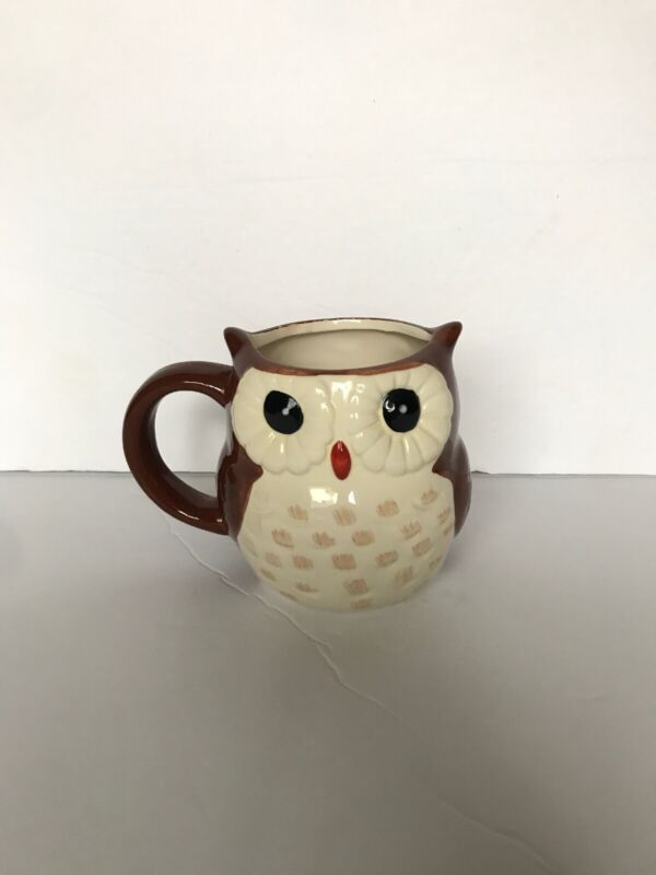 Better Homes & Gardens Heritage Collection Owl Earthenware Coffee Mug Cup