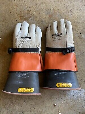 Salisbury 12 Length Lineman Gloves And Sleeves D120 Size 11 -11-12 Class 2