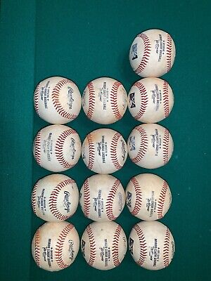 *BAKERS DOZEN* 13 Official Rawlings Minor League MiLB USED INDOORS