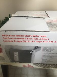 Electric tankless hot water heater