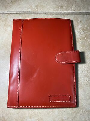 Compact Dooney Bourke Spiral Cover Red Leather Planner Note Pad Binder