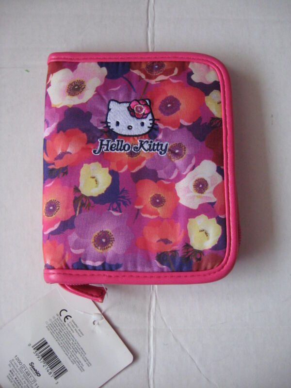 Sanrio Hello Kitty PDA Case  Zippered Anemone Collectible Vintage 1976, 2002 NEW