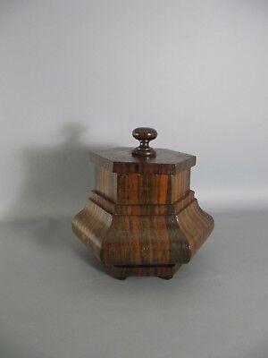 wunderschöne alte Deckeldose Tabatiere aus Holz - wooden tabatiere