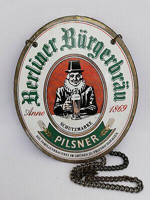 Old Vintage Rare Beer Enamel Porcelain Sign Pilsner