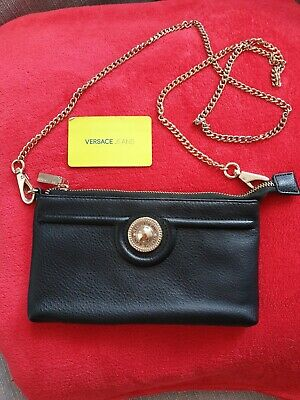 Versace Jeans Womens Crossbody Small Handbag Zip