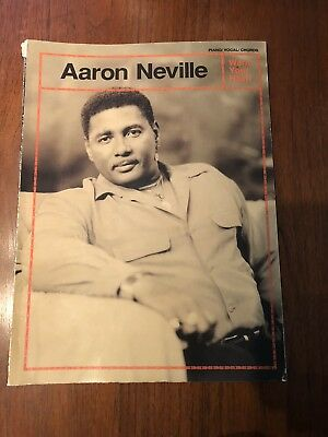 AARON NEVILLE - Warm Your Heart - Piano/Vocal/Chords Songbook / 14 Songs 1991