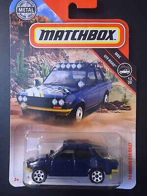 2019 MATCHBOX M CASE 1970 70 DATSUN 510 RALLY CAR HTF 73 NEW MB BLUE 23 OFF ROAD