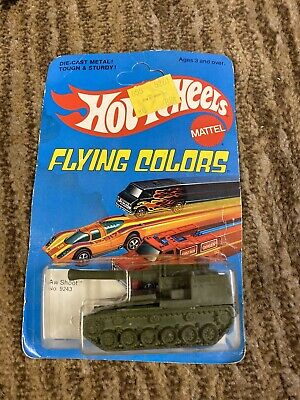 Hotwheels Flying colors Aw Shoot # 9243 Tank  Unpunched 1975
