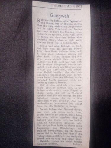 alter Zeitungsartikel Gängweh 13. April 1962