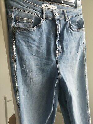 Zara embellished Blue Jeans Size 10