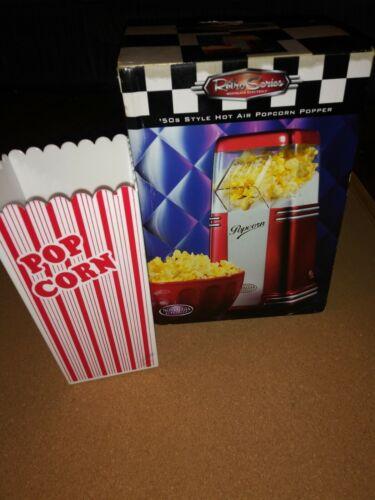 50s Style Retro Series Kettle Popcorn Maker With Popcorn Buc