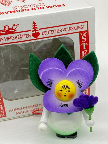 Steinbach Nutcracker Ornament Pansy Girl from Flower Series with Steinbach box