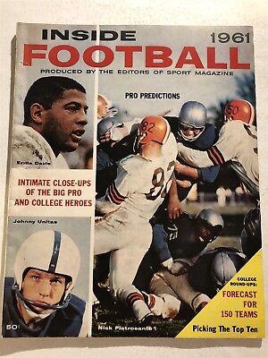 1961 Inside Football SYRACUSE Ernie Davis NCAA COLLEGE NFL Preview JOHNNY UNITAS