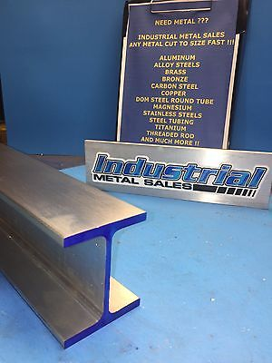 I Beam 6061 T6 Aluminum 3 X .150 X 2.5 X 24-long