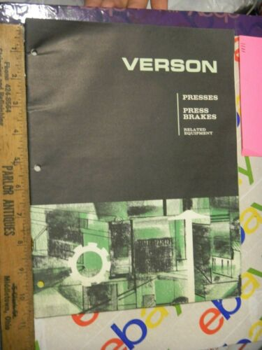 Verson Allsteel Press Die Manual Sale AD co Guide order Form 1965 Brake G-65