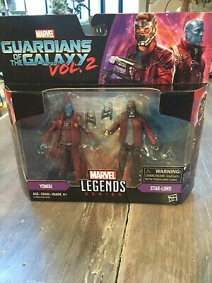 "Marvel Legends GUARDIANS OF THE GALAXY Vol2 STAR-LORD & YONDU 2Pk 3.75"" Figures"
