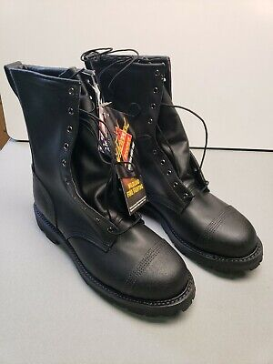 Thorogood Hellfire 10 Wildland With Front Zipper Boots 834-6373 Size 13 12 W