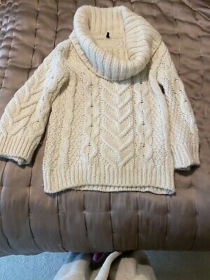 united colours of benetton, white, alpaca wool jumper, small size, off shoulder