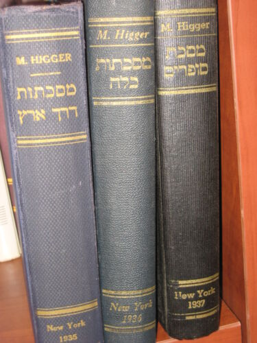 Judaica book 3 Minor Talmud tractates SOFRIM, DERECH ERETZ, KALLA NY 1935-37