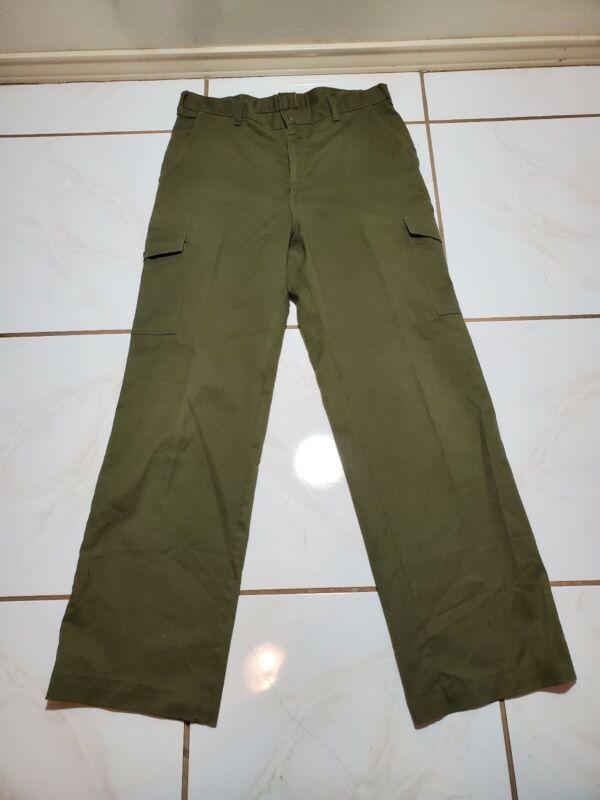 Boy Scouts of America Vintage OD Green Cargo Pants Troop Uniform Pant 32x32 F198