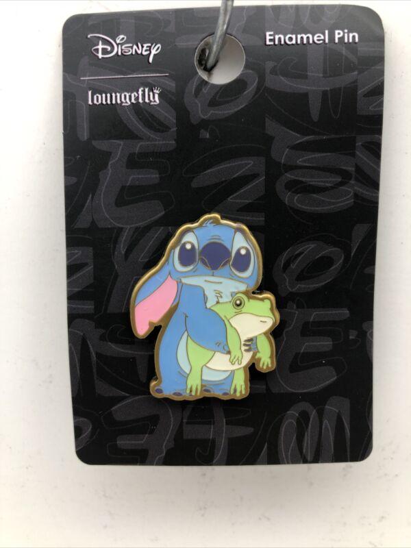 Loungefly Disney Lilo & Stitch - Sad Stitch with Frog Trading Pin