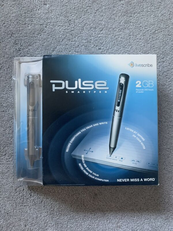 Livescribe Pulse smart pen 2GB UNOPENED
