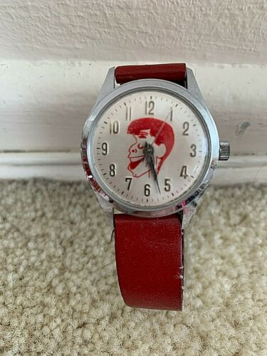 JERRY LEWIS WATCH VINTAGE HELBORS 17 JEWELS CHARACTER WATCH