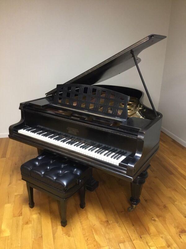 "Schiedmayer 6' 4"" Grand Piano 1914 Stuttgart, Germany w/Artist Bench"