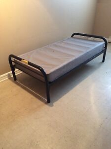 Frame and box spring.