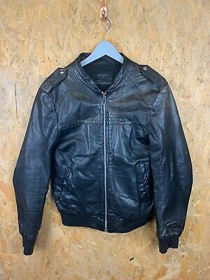 ALLSAINTS, Mens Size M, Black, Zip Thru, Leather Bomeber Jacket,*GC*