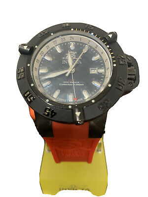 Invicta 0736 Mens Subaqua Noma III RED Rubber Strap Watch