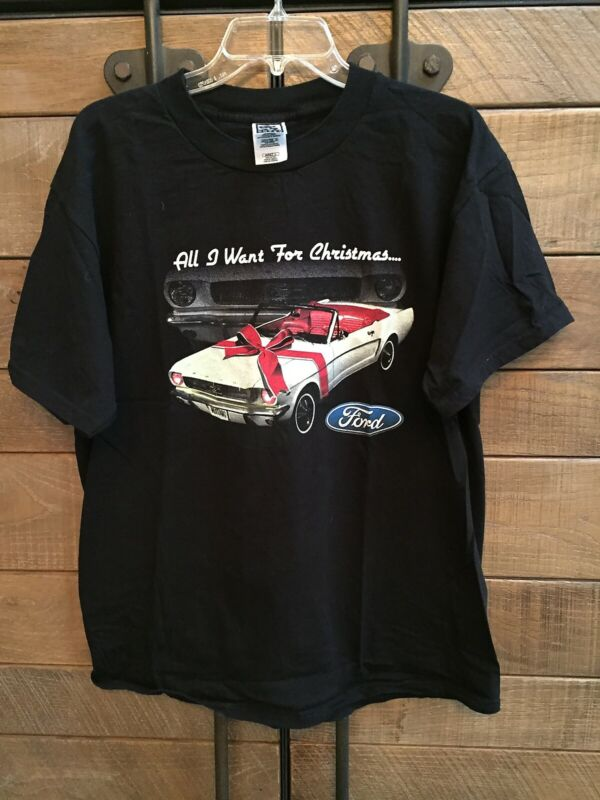 FORD - MUSTANG - vintage t-shirt - Near Mint - SIZE ADULT LARGE