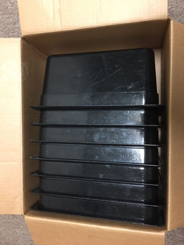 Cambro Food Storage Rectangle 7 Containers 12x6 Black Free Shipping