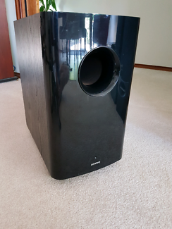 """10"""" Onkyo powered subwoofer."""